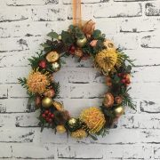 Deluxe Gold Christmas Wreath