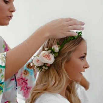Bridal flower crown gladstone